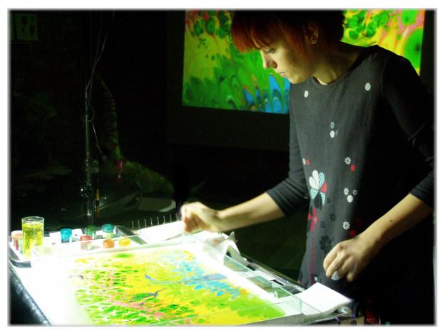 Marina Nebo artist sand show animated water
